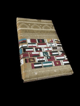 Asia Continent Gift wrapping Paper