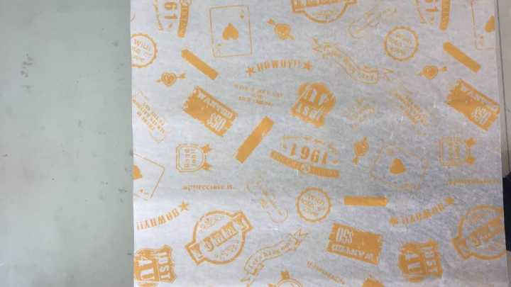 Wax Coated Food Wrapping Paper