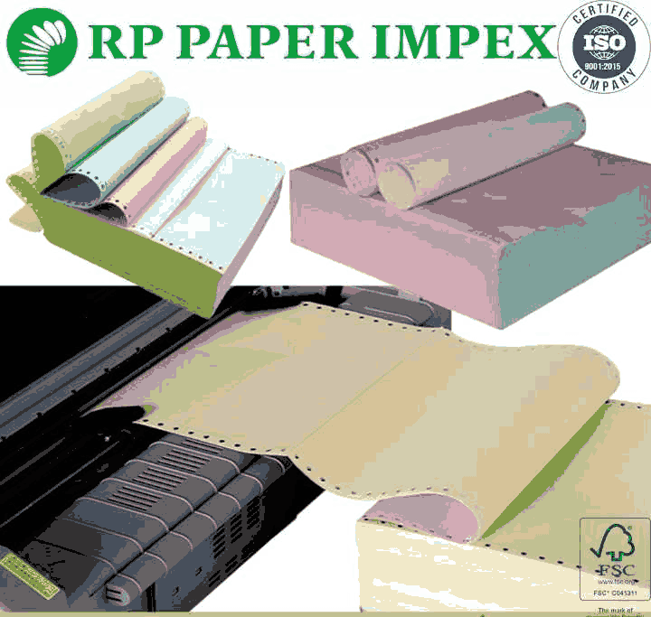 3 Triple Ply Pre Printed Continuous Computer Paper Form