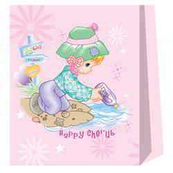 Cartoon Paper Bags - Rose Color