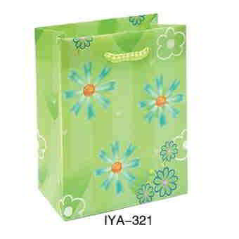 Flower Fruit Paper Bags - Green Color