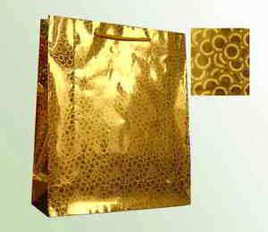 Laser Paper Bags - Gold Color