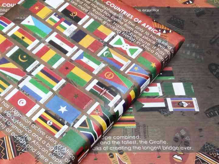 Africa Country Flags Gift Wrapping Papers
