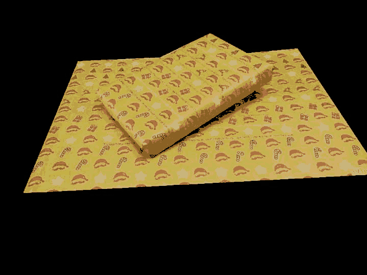 Santa Caps Gift Wrapping Paper