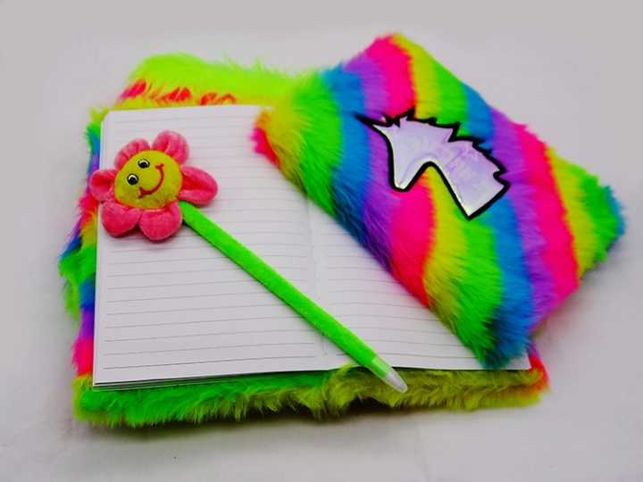 Luxury Furry Diary Cover Plush Notebooks