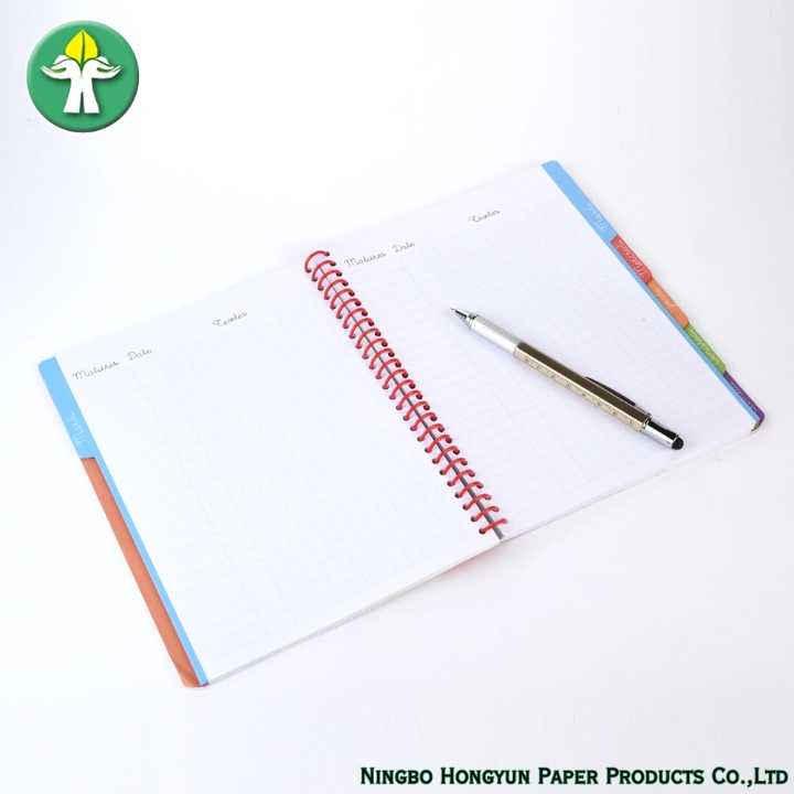 Spiral Wire Agenda White Board Notebooks