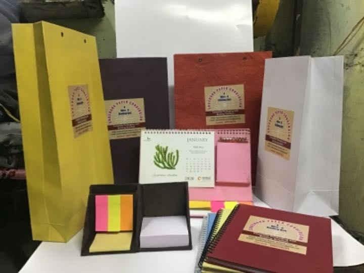 Kraft Paper Bags, Notepads, Notebooks, Diaries