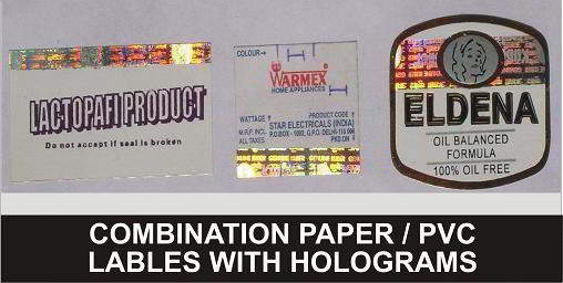 Paper/ PVC Labels with Holograms