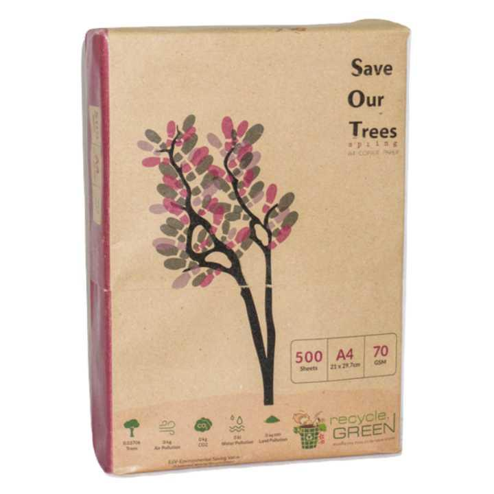 SOT (Save Our Trees) Spring- Recycled A4 Papers 70 GSM