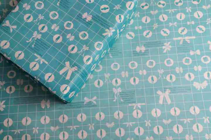 Blue Corporate Design Informative Wrapping Paper