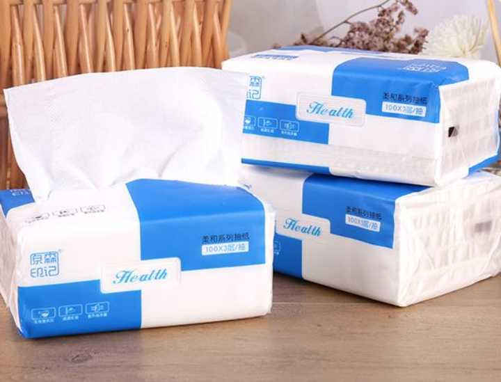 3 Ply Disposable Facial Tissue Paper