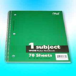 Single Spiral Notebook - 70ct