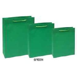 Shopping Paper Bags - Green Color