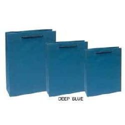 Shopping Paper Bags - Deep Blue Color