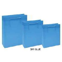 Shopping Paper Bags - Sky Blue Color