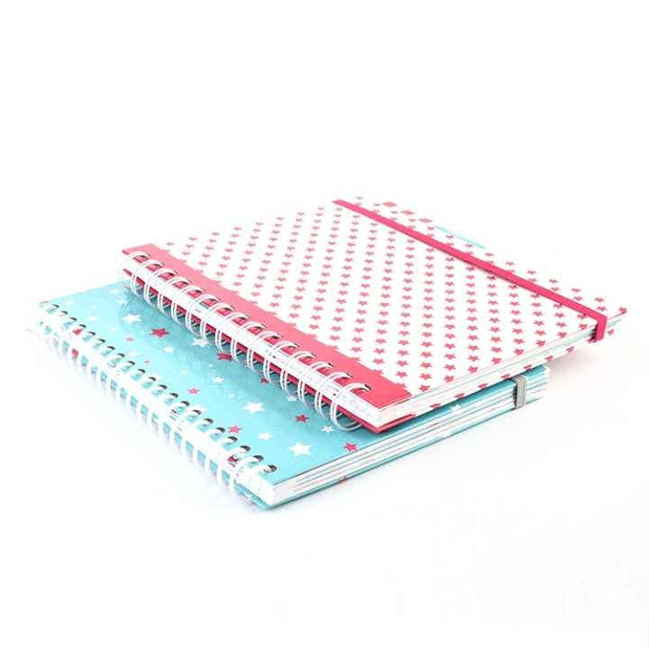 School/Office Spiral Custom Hardcover Print Notebook