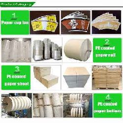 Cup Stock Paper in Rolls / Sheets for Disposable Cups