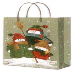 Snowman paper bag