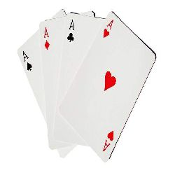 Playing Card Paper Board black center