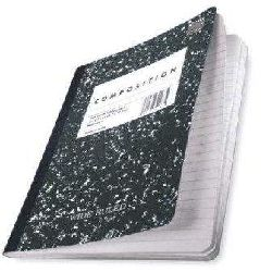 Black Marble Wide-Ruled Composition Book