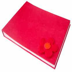 Stitched  Photo Album Rouge color