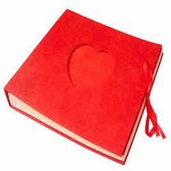 Heart Album Red color