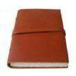 Leather Notebook Brun Color