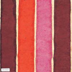 Nepali Batik Paper Sheet - Orange Color