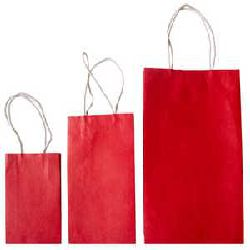 Handmade Paper Bag - Red Color
