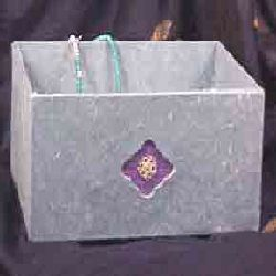 Silk Paper Box With Filigree