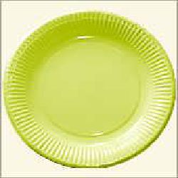 Paper Plate - Light Green Color