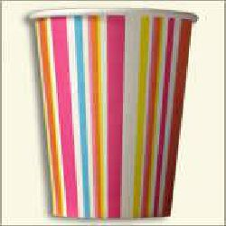 Paper Cup Printed Multi Color Line