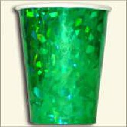 Holographic Paper Cup - Green Color