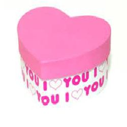 Heart Gift Box - Pink Color