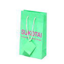 Matt Lamination Paper Bags - Green-Color