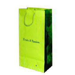Matt  Paper Bags - Chartreuse Color