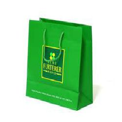 Matt Lamination Paper Bag - Green Color