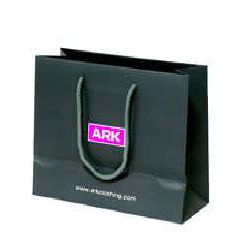Matt Lamination Paper Bag - Black Color
