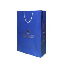 Hot Stamping Paper Bag - Blue Color