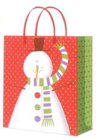 Gift bag ,Gift Snowman paper bag
