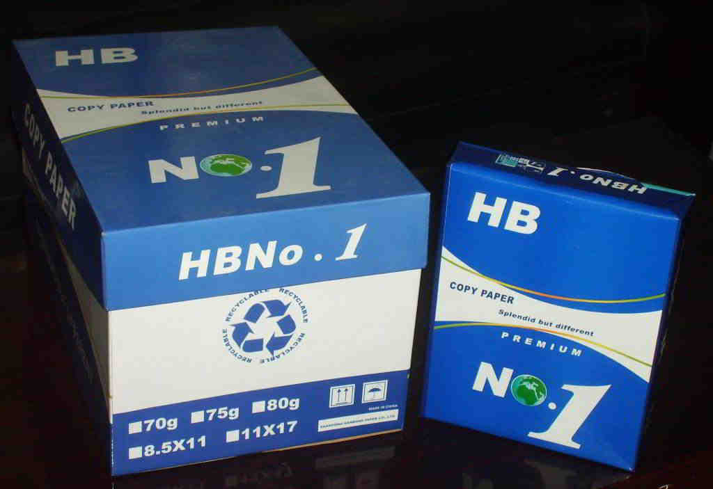 HB No 1 paper Letter Size 8.5*11,75gsm a