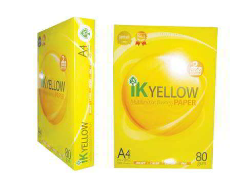 Ik Yellow  A4 Copy Paper 80gsm,75gsm,70g