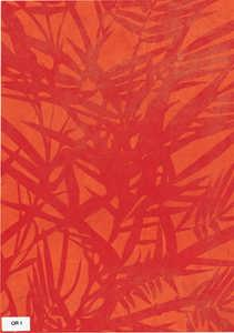 Bamboo Paper Sheet - Orange Color