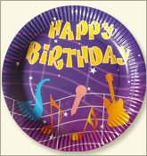 Birth Day Paper Plate