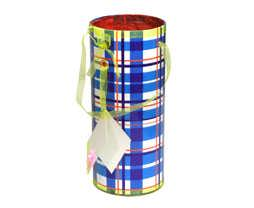 Cylinder Box- Blue Color
