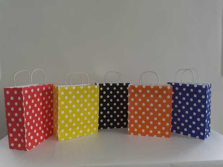 Dotted Color Paper Bags
