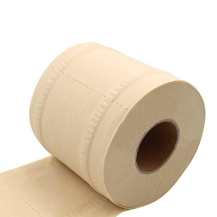 Unbleached Bamboo Toilet Paper Rolls